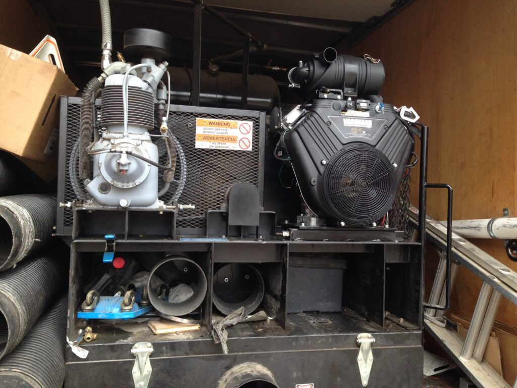 Air Duct Cleaning Compressor - Repaired in truck